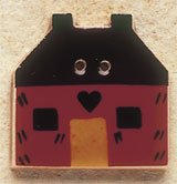 43034 - Red Quilt House - 1in x 1in